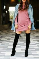 Amazing Winter Dresses Ideas With Boots02