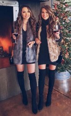Amazing Winter Dresses Ideas With Boots29
