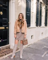 Amazing Winter Dresses Ideas With Boots35