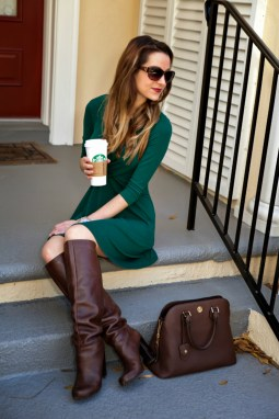 Awesome Winter Dress Outfits Ideas With Boots26