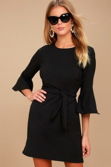 Perfect Black Mini Little Dress Ideas For Valentines Day01
