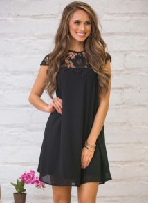 Perfect Black Mini Little Dress Ideas For Valentines Day22