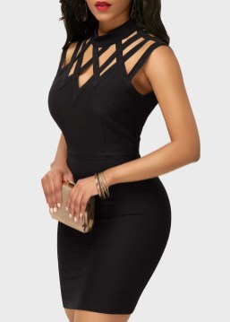 Perfect Black Mini Little Dress Ideas For Valentines Day25