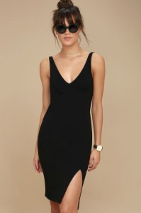 Perfect Black Mini Little Dress Ideas For Valentines Day40