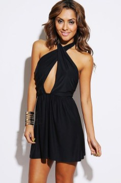 Perfect Black Mini Little Dress Ideas For Valentines Day42