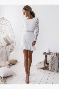Perfect Winter White Dresses Ideas With Sleeves05