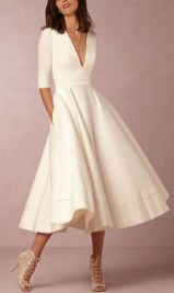 Perfect Winter White Dresses Ideas With Sleeves19