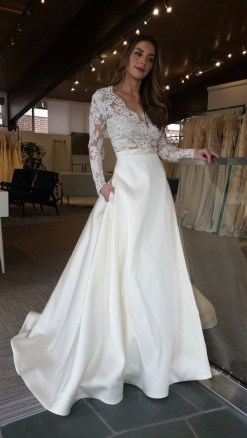Perfect Winter White Dresses Ideas With Sleeves27