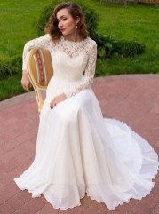 Perfect Winter White Dresses Ideas With Sleeves34
