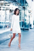 Perfect Winter White Dresses Ideas With Sleeves40