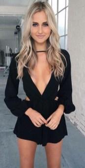 Adorable Black Romper Outfit Ideas23