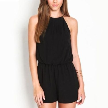 Adorable Black Romper Outfit Ideas37