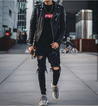 Affordable Leather Jacket Outfit Ideas37