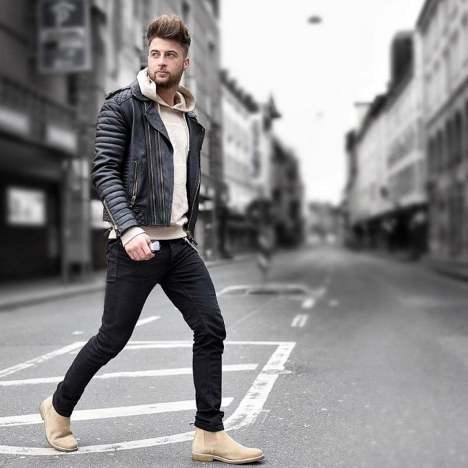 Affordable Leather Jacket Outfit Ideas45