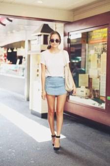 Elegant Denim Skirts Outfits Ideas For Spring03