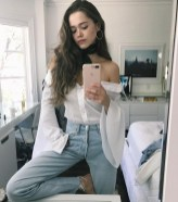 Lovely Spring Outfits Ideas With White Top35