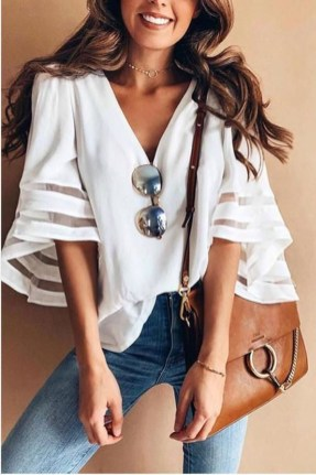 Lovely Spring Outfits Ideas With White Top38