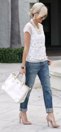 Lovely Spring Outfits Ideas With White Top40