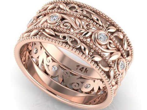 Brilliant Rose Gold Wedding Rings Ideas04