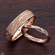 Brilliant Rose Gold Wedding Rings Ideas10