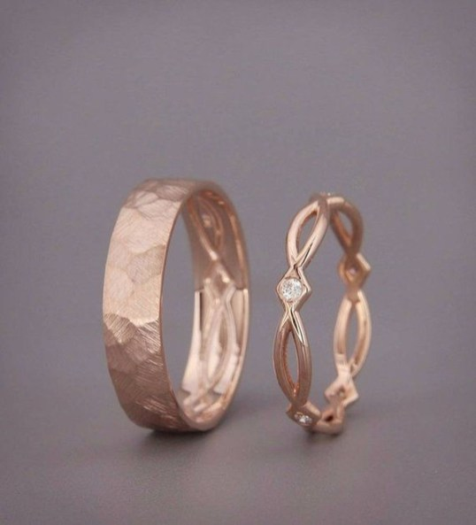 Brilliant Rose Gold Wedding Rings Ideas17