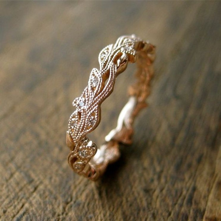 Brilliant Rose Gold Wedding Rings Ideas20