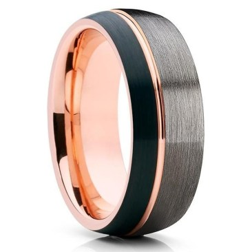 Brilliant Rose Gold Wedding Rings Ideas30