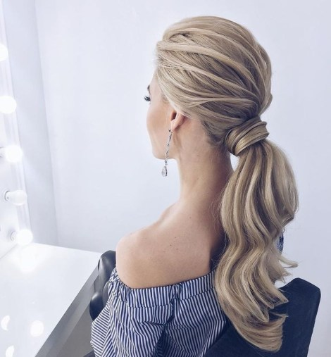 Charming Ponytail Hairstyles Ideas With Sophisticated Vibe09