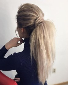 Charming Ponytail Hairstyles Ideas With Sophisticated Vibe31