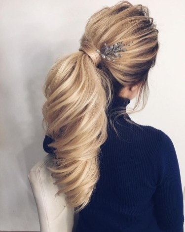 Charming Ponytail Hairstyles Ideas With Sophisticated Vibe36