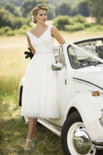 Gorgeous Tea Length Wedding Dresses Ideas10