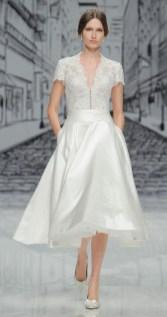 Gorgeous Tea Length Wedding Dresses Ideas13