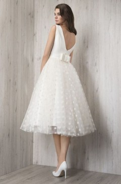 Gorgeous Tea Length Wedding Dresses Ideas25