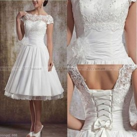 Gorgeous Tea Length Wedding Dresses Ideas29