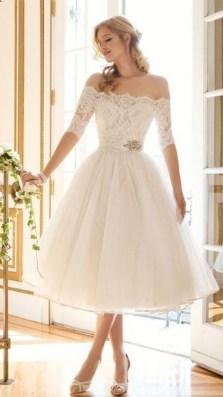 Gorgeous Tea Length Wedding Dresses Ideas34