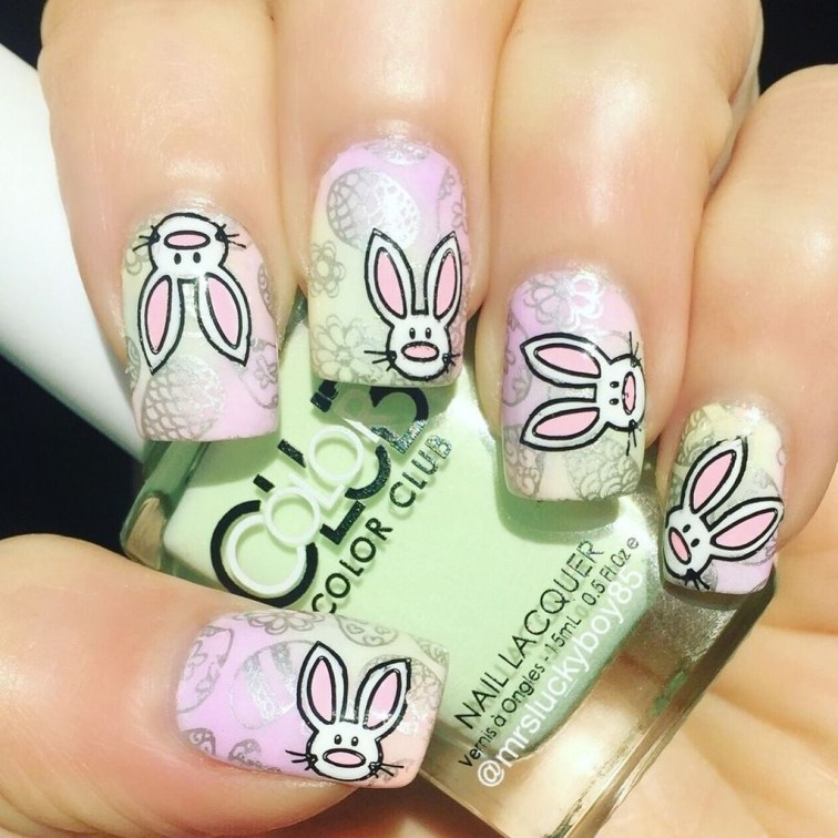 Modern Easter Nail Art Design Ideas33