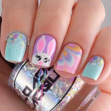 Modern Easter Nail Art Design Ideas37