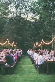 Pretty Backyard Reception Decoration Ideas10