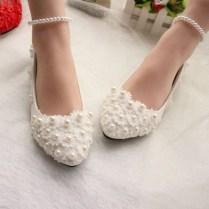 Captivating Flat Wedding Shoes Ideas10