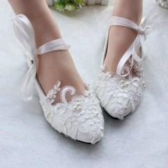 Captivating Flat Wedding Shoes Ideas11