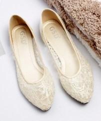 Captivating Flat Wedding Shoes Ideas18