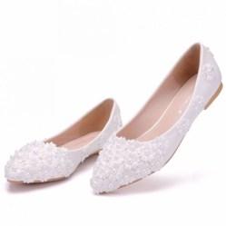 Captivating Flat Wedding Shoes Ideas26