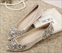 Captivating Flat Wedding Shoes Ideas30