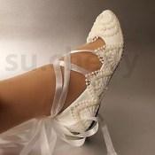 Captivating Flat Wedding Shoes Ideas32