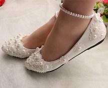 Captivating Flat Wedding Shoes Ideas33