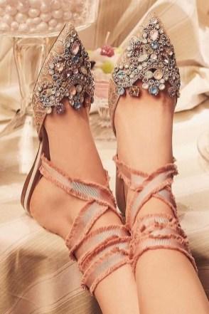 Captivating Flat Wedding Shoes Ideas34