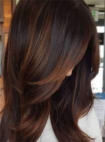 Elegant Dark Brown Hair Color Ideas With Highlights28