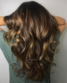 Elegant Dark Brown Hair Color Ideas With Highlights32