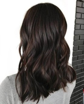 Elegant Dark Brown Hair Color Ideas With Highlights34