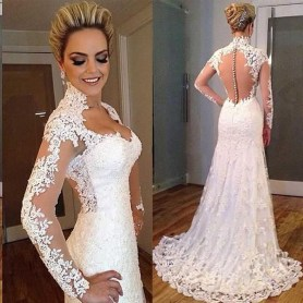 Newest Lace Sweetheart Wedding Dresses Ideas For Spring10